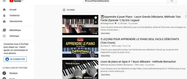 cours de musique sur youtube